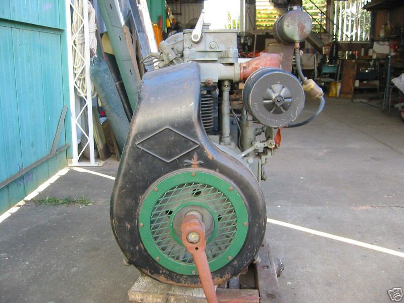 Vintage mowers lister petter for Air powered gear motor
